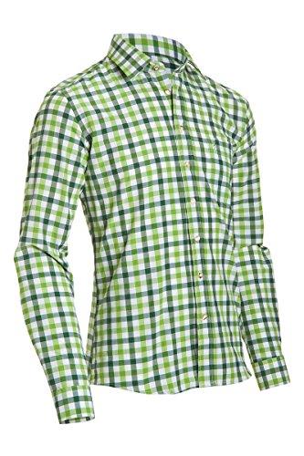 Almsach Herren Slim Fit Trachten Hemd LF191-s apfel/tanne L