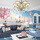 LONGYUCHEN Benutzerdefinierte 3D Seide Wandbild Tapete Heißluftballon Landschaft Gebäude Schlafzimmer Kinderzimmer Tv Hintergrund Wand Dekoration Wandbild,80Cm(H)×150Cm(W)