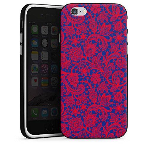 Apple iPhone X Silikon Hülle Case Schutzhülle Flower Muster Abstrakt Silikon Case schwarz / weiß