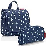 reisenthel Exklusiv-Set: wh4044 toiletbag Spots Navy Plus GRATIS ls4044 makeupcase Spots Navy