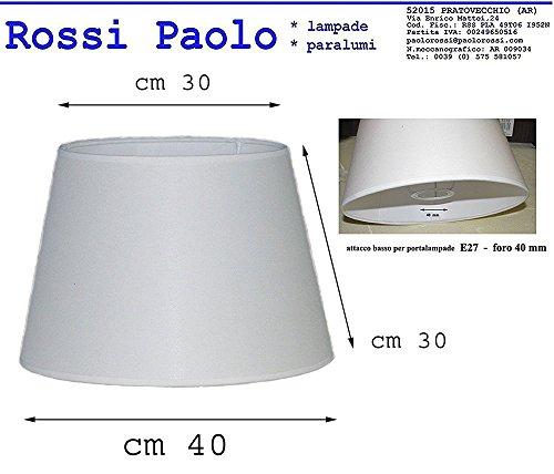 Prime paralume coprilampada diametro 40 tessuto avorio accoppiato a PVC - produzione propria - made in Italy