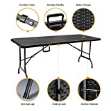 IKAYAA 6FT Picnic Table Folding Table Camping Table Portable Outdoor Garden Party BBQ Dining Coffee Kitchen Table