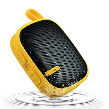 Remax X-2 Hi-Fi Stereo Wireless Bluetooth Speaker, Bluetooth 4.0 A2DP with Mic/FM/AUX Play Function with Carabiner for iPhone, iPad, Samsung Galaxy,LG, HTC,Android Smartphones(Yellow)