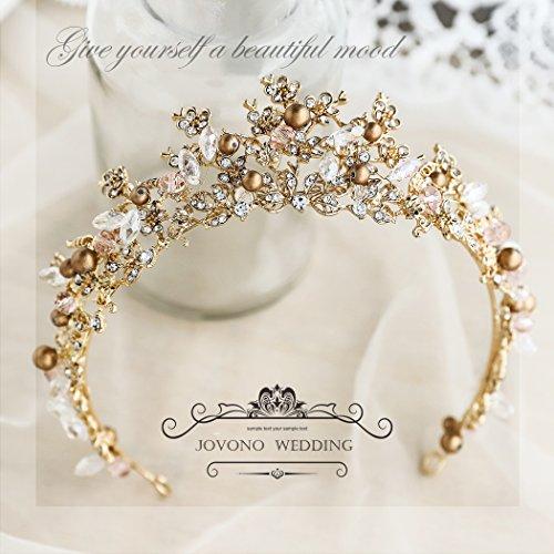 Corona barroca para el pelo con brillantes