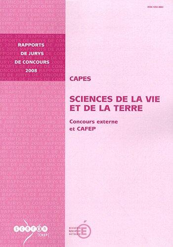 CAPES Sciences de la Vie et de la Terre : Concours externe et CAFEP