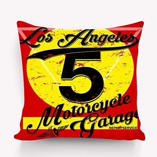 suzhoudoushioumiyafushi Kissenbezüge Throw Pillow Cushion Cover Athletic Sport los Angeles Typography Fashion Design Decorative Square Accent Pillow Case 18 X 18 inches
