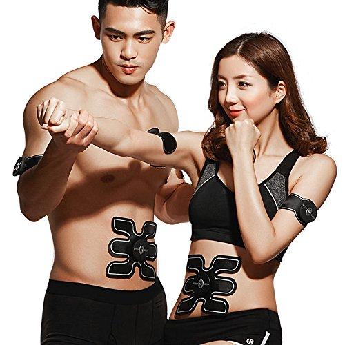 AMYB EMS Muskel Stimulator - Abdominal Toning Gürtel,/Bein-/Arm-Muskel-Übungs-Muskel-Abdominal- Toner-Gurt-Intelligente Und Tragbare Maschine Für Mann Und Frauen