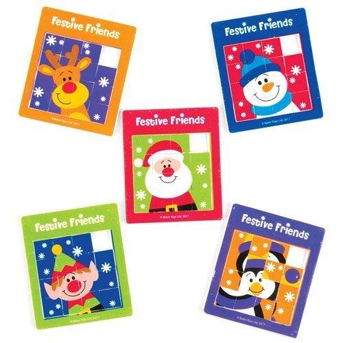 Puzzles à Faire Glisser Amis festifs pour Enfant, Jouets et Jeux destinés aux Jeunes Enfants pour s'amuser Pendant la période de Noël (Lot de 5)