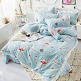 RYQS Moderne Winter Baumwolle Prinzessin Wind 4-teilig,Koreanischen Stil Wärme Baumwolle Betten 4-teilig-B 1.8m(71inch) Bed