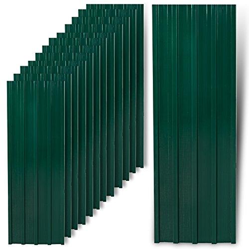ESTEXO Trapezblech Profilblech Metallblech 12 Stück Dachblech Stahlblech Grün