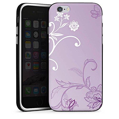 Apple iPhone 5 Housse Étui Silicone Coque Protection Vrilles Fleurs Fleurs Housse en silicone noir / blanc