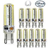 ELINKUME 10 Packs Lampadina LED G9 7W bianco freddo 104 * 3014 SMD Lampadina a risparmio energetico AC200-240V