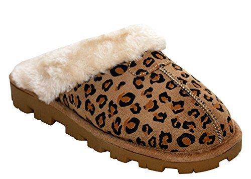 JyotiLibby - Ciabatte da ragazza' donna Light Brown/Leopard