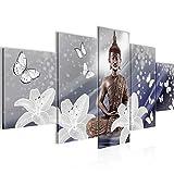 Cuadro Flores de Buda Decoración de Pared 200 x 100 cm Forro polar - decoración de...