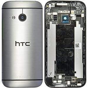 Original HTC Akkudeckel / Backcover für das HTC One mini 2 - grey / grau mit NFC (Akkufachdeckel, Batterieabdeckung, Rückseite, Back-Cover) - 83H40012-01