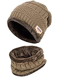 092ad7d1425 Kids Winter Warm Beanie with Scarf Knitted Hat Soft Lined.YR.Lover