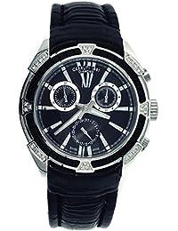 Cerruti 1881 - Reloj cronógrafo con diamantes (piel), color negro