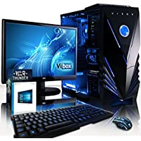"""VIBOX Standard 3X Gaming PC Computer with War Thunder Game Voucher, Windows 10 OS, 22"""" HD Monitor (3.8GHz AMD A8 Quad-Core Processor, Radeon R7 Graphics Chip, 8GB DDR3 1600MHz RAM, 1TB HDD)"""
