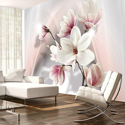 *murando – Fototapete Blumen 350×256 cm – Vlies Tapete – Moderne Wanddeko – Design Tapete – Wandtapete – Wand Dekoration – Blumen b-A-0201-a-b*