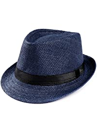 Rovinci Trilby Gangster Cap Gorro de Playa Sombrero de Copa Sombrero de  Pescador Sombrero de Copa 315daf4b961