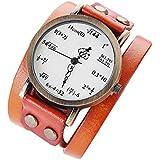 Providethebest Femmes Filles de Montre en Cuir Math Formula Équation Montre Femme Bracelet Horloge Numéro Horloge à Quartz