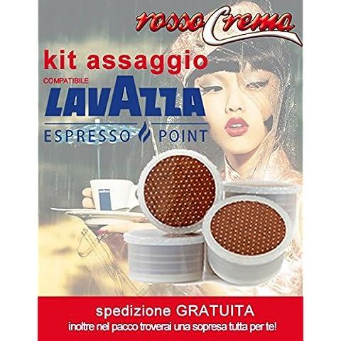 Kit Assaggio RossoCrema EP capsule compatibili Lavazza Espresso Point (2 intenso + 2 arabica + 2 dolce) - Lavazza Espresso Point Capsula Macchina