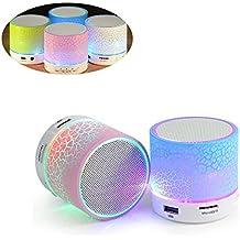 szuxanzhicai Lámpara LED con altavoz Bluetooth integrado, mini altavoz portátil Bluetooth Altavoz colorido LED, RGB Cambio