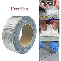 Cinta súper impermeable Cinta de papel de aluminio de caucho butílico (10mx10cm)