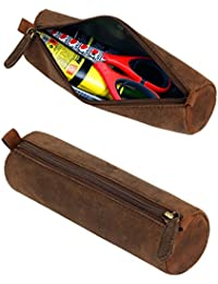 Leaderachi-100% Genuine Hunter Leather Utility Pouch/Case [Napa]