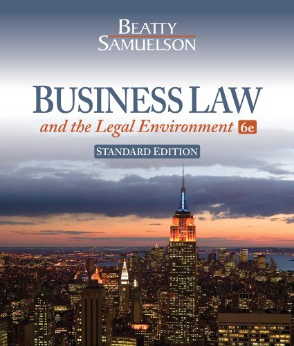 Business Law And The Legal Environment Pdf