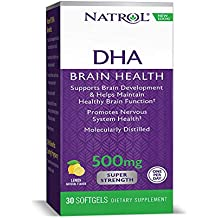 Natrol - mg. DHA 500 Super fuerza cerebral apoyo 500 - 30 cápsulas