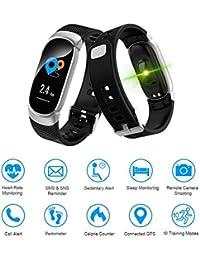 LIGE Pulsera Actividad,Monitor de Sueño,Podómetro,Pantalla de Color Impermeable Reloj Inteligente