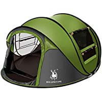Ghlee Seconds Pop Up Quick Opening Camping Hiking Large Instant Tent for Outdoor Sports Camping Hiking Travel Beach