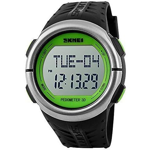 downj mujeres relojes deportivos monitor de frecuencia cardiaca 50M resistente al agua Digital Contador de Calorías reloj