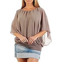 malito elegante Blusa Túnica Parte Superior Top Obersized 6296 Mujer Talla Única