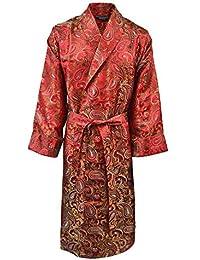 Lloyd Attree & Smith - Robe de Chambre en Viscose - Paisley Rouge / Or - Homme