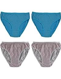 Damen Slips,4 Pack,Baumwolle