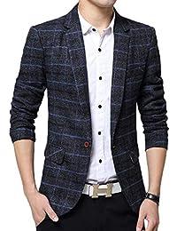 Scothen Herren Sakko Sportlich Moderne Slim-Fit Jacke Eleganter Freizeit  und Business Blazer mit Gefüttert c216c07567