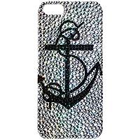 Lux accessori iPhone 5/5s, colore: nero, trasparente, con strass, motivo