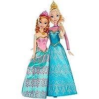 Disney Frozen - Muñecas, pack Anna y Elsa, 28 cm (Mattel BDK37-0)