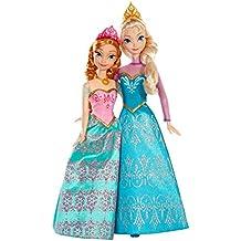 disney princesses bdk37 poupe mannequin reine des neiges coffret duo anna et