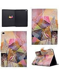 Coque Apple iPad Air 2 / iPad 6, BONROY® Smart Case Coque pour Apple iPad Air 2 / iPad 6 TPU Souple Bumper Fermeture Magnétique avec Function Veille Automatique Etui Housse Case Cover pour Apple iPad Air 2 / iPad 6 - Flamingos