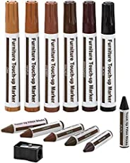 Furniture Repair Kit Wood Markers Wax Sticks, For Stains, Scratches, Wood Floors, Tables, Desks, Carpenters, B