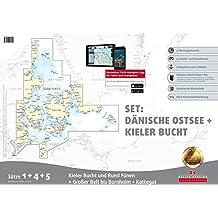 Sportbootkarten Satz 1, 4 und 5 – Set: Dänische Ostsee und Kieler Bucht (Ausgabe 2016)