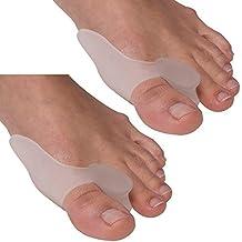 G-Smart juanete alivio 2dedo gordo del pie Protectores para juanetes Tratamiento juanete Gel Toe Separadores Separadores Cabello y esparcidor