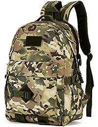 imprevisto Unisex Outdoor – Mochila Mochila táctica Molle Bag Backpack Nylon Camo equipaje viaje saco Nylon