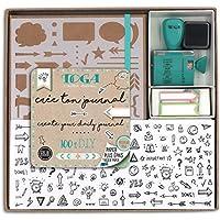 Toga kt74Kit Bullet Journal Cuaderno Kraft 15,5x 21,5x 1,5cm