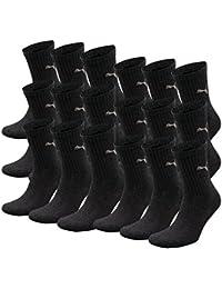 PUMA crew lot de 6 paires de chaussettes de sport avec dessous en éponge de 18 Gris anthrazit 39-42