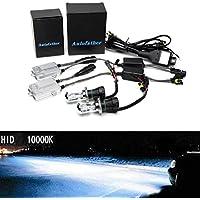 55W HID Xenon Kit di conversione digitale sottile auto, H49003doppio Hi Low fascio Xenon- 6000K Colore Bianco–2lampadine in metallo e