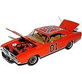 Dodge Charger 1969 Dukes of Hazzard General Lee Orange High Quality 1/18 Greenlight Modell Auto mit oder ohne individiuellem Wunschkennzeichen